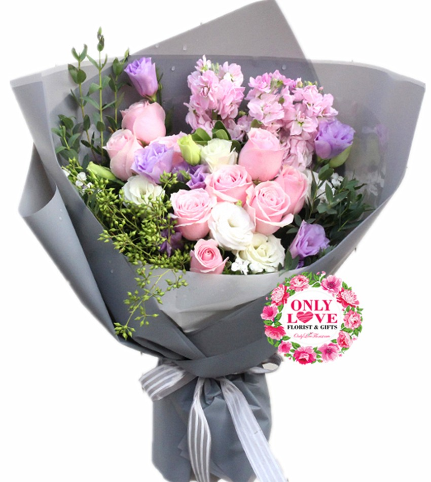 Ks002 Korean Style Bouquet Same Day Flower Delivery To Malaysia