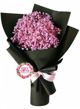 BA08 Pink Baby Breath Bouquet