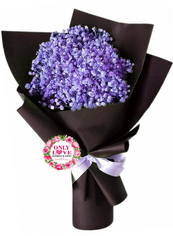 BA14 Purple Baby Breath Bouquet