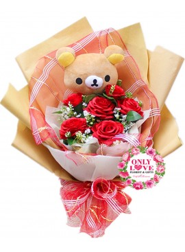 AB02 Rilakkuma Artificial Bouquet