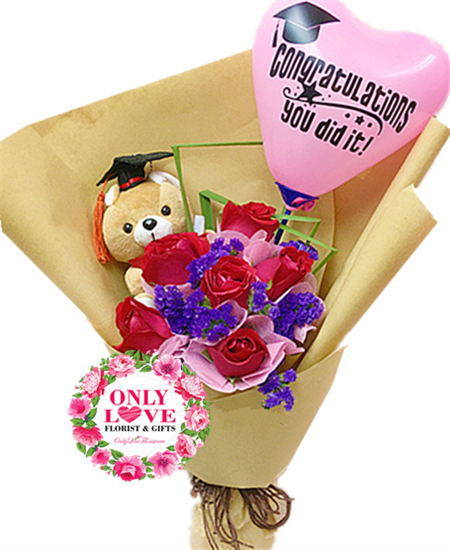 Florist Chow Kit Graduation Bouquet