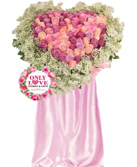 Love Heart Grand Flower Stands