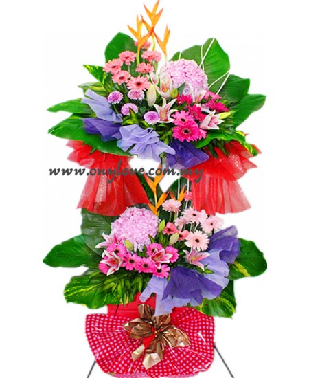 Two Layered Floral Premium Stand