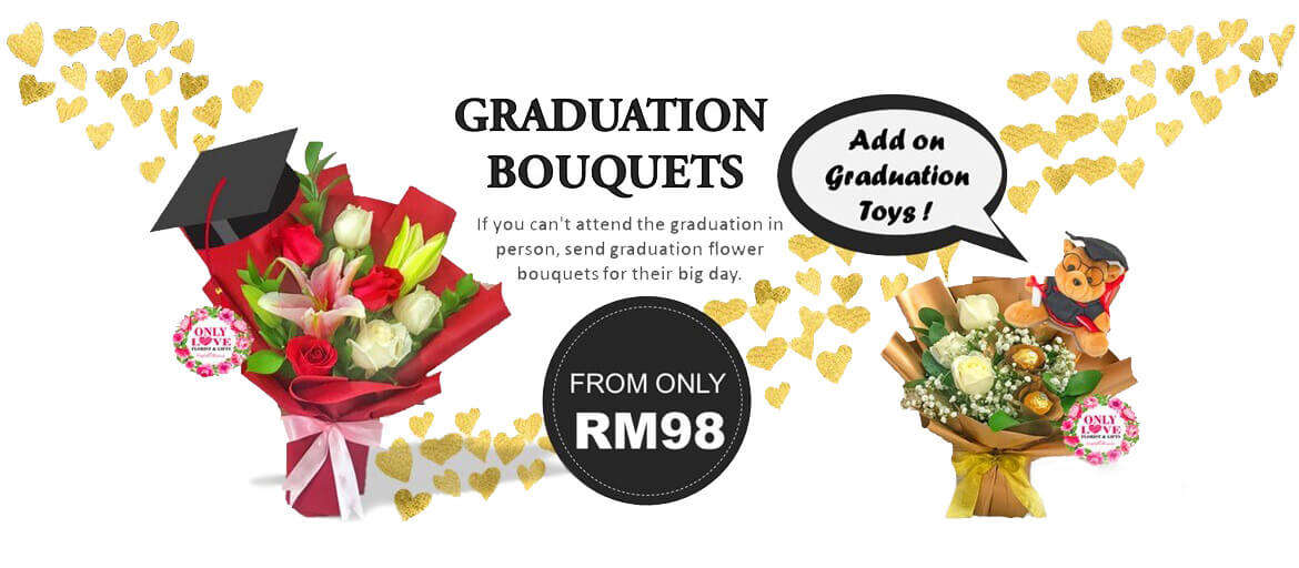 Graduation Flower Bouquets delivery Kuala Lumpur